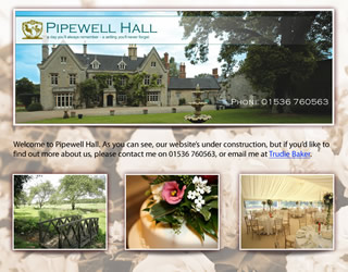 Pipewell Hall Website Design